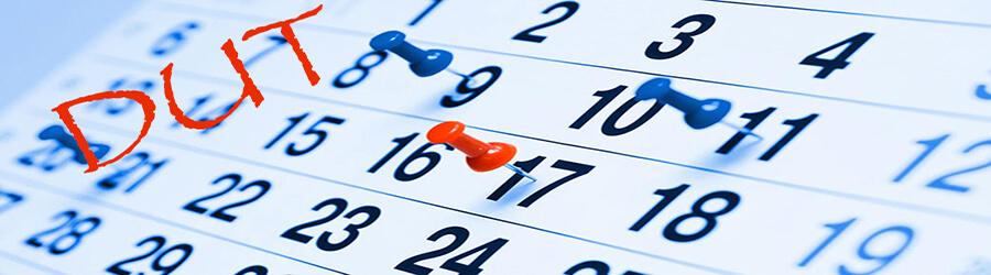 Dates à retenir - DUT