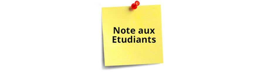 Note aux étudiants ayant déposé leurs baccalauréats originaux