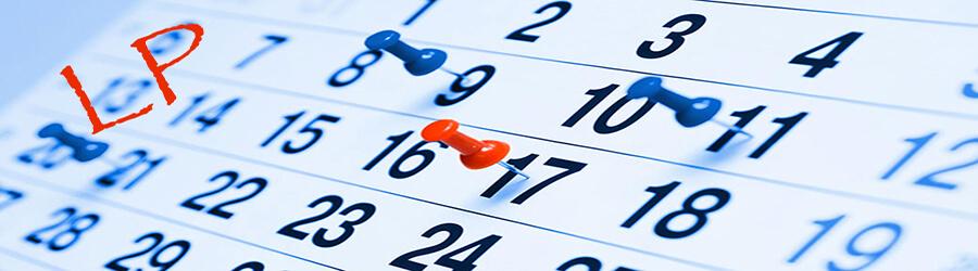 Dates à retenir - LP - non salariés